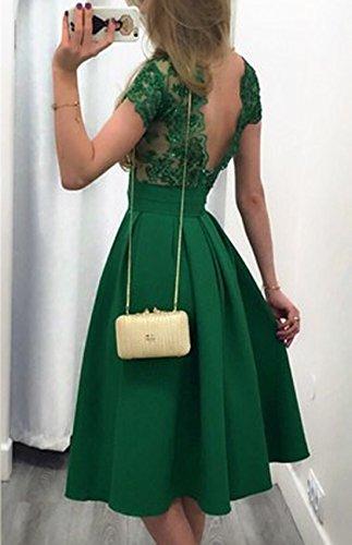 Cocktail Verde Donna Vestito Elegante Fashion Simple in da Vestito Vestito Vestiti Vintage Partito Estivi Vestito Quotidiani Pizzo gRPPdaq