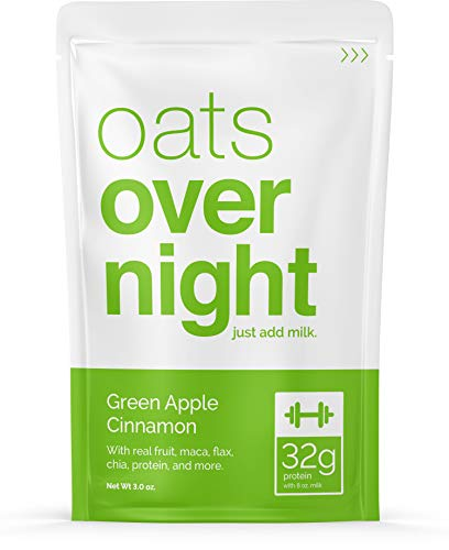 Oats Overnight - Green Apple Cinnamon - Premium High-Protein, Low-Sugar, Gluten-Free (3oz per pack) (12 Pack)