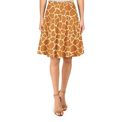 Giraffe Print A-Line Skirt - XS (Giraffe Print Skirt)