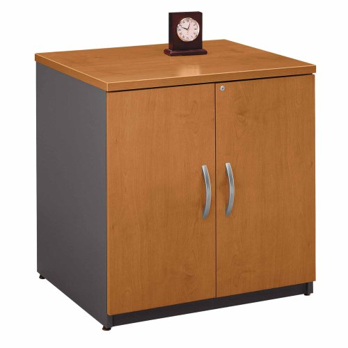- BUSH BUSINESS FURNITURE Series C: 30-inch Door Bookcase, Natural Cherry/Graphite Gray