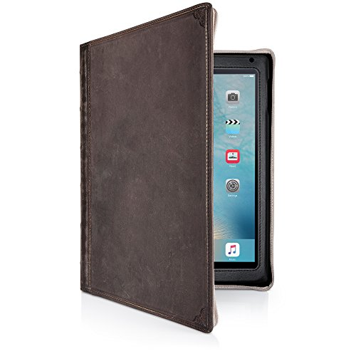 Twelve South BookBook for iPad | Leather Book case and Display Stand for 2018/2017 iPad, iPad Air (1st and 2nd gen.), Brown