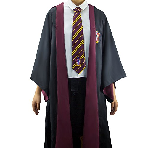 Harry Potter Authentic Tailored Wizard Robes Cloak by Cinereplicas,Gryffindor,Medium -