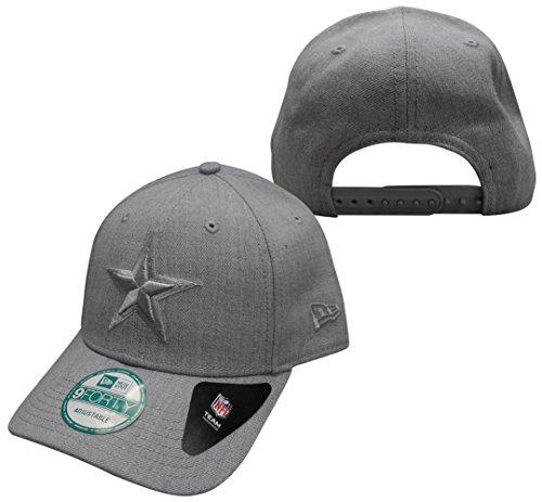 Dallas Cowboys New Era 9FORTY Heather Basic Grey Adjustable Hat / Cap