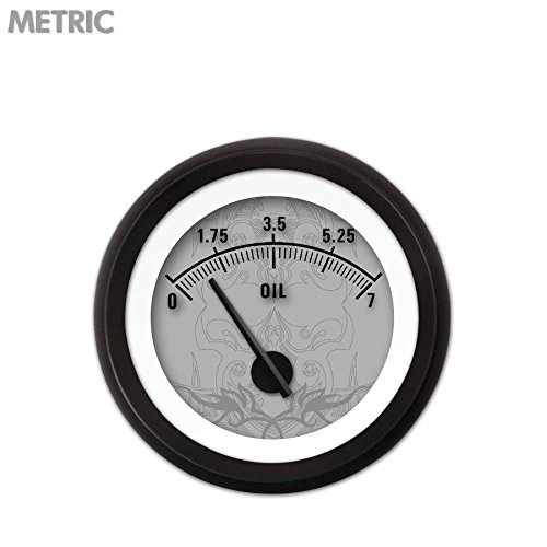 GAR291ZMXJACCC Tribal Series Gray Oil Pressure Gauge Aurora Instruments