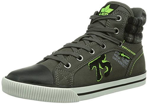 Lico Freak Winter, Jungen Hohe Sneakers, Grau (grau/lemon), 36 EU (3.5 Kinder UK)