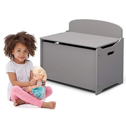 416zqx1XmKL - Delta Children MySize Deluxe Toy Box, Grey
