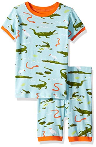 - Hatley Boys' Little Organic Cotton Short Sleeve Printed Pajama Set, Swamp Gators 2 Years
