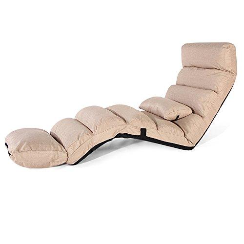 ZHIRONG Lengthen Sofa Chair Lounge Sofa Bed Folding Adjustable Floor Lounger Sleeper Futon Mattress Seat Chair W/Pillow, (Color : ()