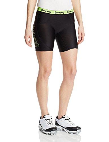 Womens Low Rise Compression Short (Intensity Women's Low Rise Slider Softball Shorts, X-Large, Black Optic Yellow)