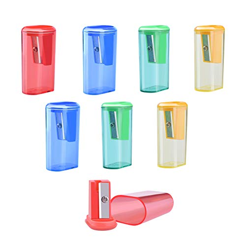 - WXJ13 Single Hole 4 Colors Manual Pencil Sharpener for School Children, Office Supply, Pack of 8