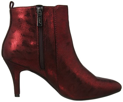 Lotus Booney Womens Dress Ankle Boots Red Shimmer pDeoN8evE