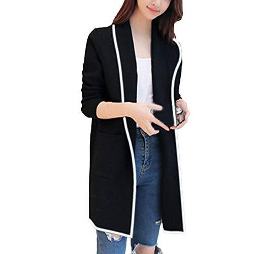 (Byyong Womens Winter Long Sleeve Loose Wild Elegant Windbreaker Sweater Coat Cardigan)