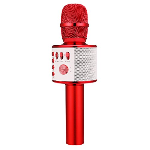 Great Features Of BONAOK Wireless Karaoke Microphone,3-in-1 Thanksgiving gift Portable Built in Blue...