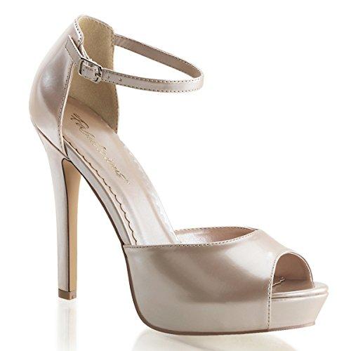Lack Sandalette, Damen, Beige (beige) Beige (Beige)