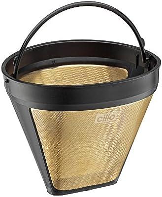 Cilio 116007 - Filtro para cafetera (tamaño 4), Color Dorado ...