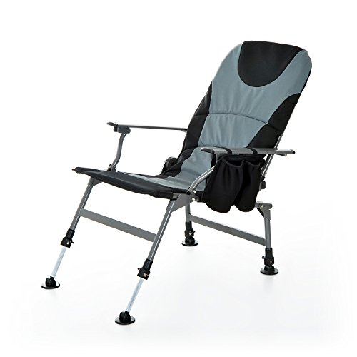 Outsunny folding portable fishing chair with rod holder for Foldable fishing rod