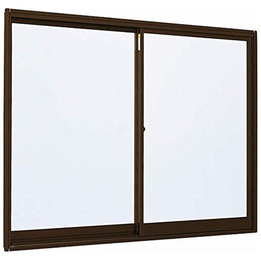 アルミサッシ YKKap 簡易サッシ 倉庫・物置・工場等 「3H-V」 引違い窓 内付型 W 786mm×H 601mm[0706] 窓 引き違い 内付け 単板ガラス シングルガラス 型ガラス-不透明(4mm) B1:ブラウン