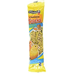 Vitakraft Triple Baked Crunch Sticks with Egg and Honey Canary Treat (3 Packs/2 Treats Per Pack)