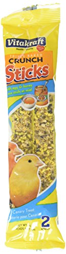 Sticks Egg (Vitakraft Triple Baked Crunch Sticks With Egg And Honey Canary Treat (3 Packs / 2 Treats Per Pack))