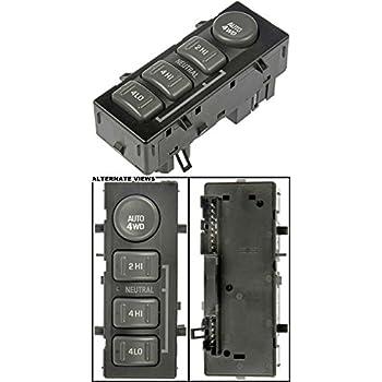 APDTY 012173 4x4 Four Wheel Drive 4WD Transfer Case Selector Auto Push Button Switch Fits Select Escalade Suburban Silverado Tahoe Sierra Yukon (Replaces 15709327 19168767)