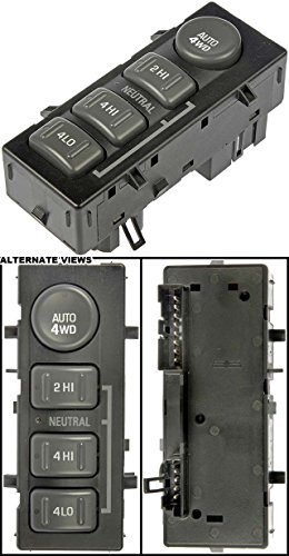 APDTY 012173 4x4, Four Wheel Drive 4WD Transfer Case Selector Button Switch. Replaces GM Part Numbers 15709327, or 19168767