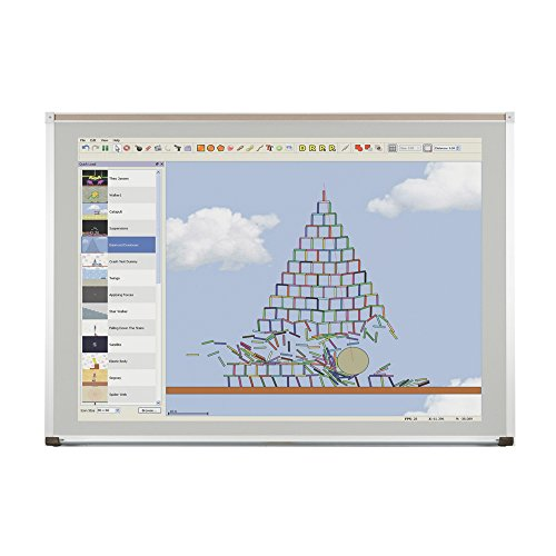 Evolution Projection Surface - Matte Gray - Deluxe Aluminum Trim - 4X12 by Best-Rite