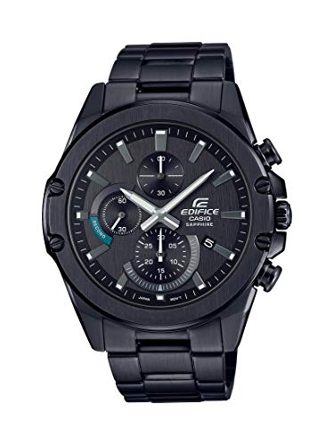 Casio Men's Edifice Quartz Stainless Steel Strap, Black, 22 Casual Watch (Model: EFR-S567DC-1AVCR) (Casio Efa 119bk 1avdr Erkek Kol Saati)
