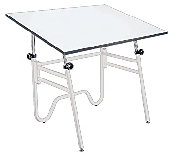Alvin OP42-4 Opal Table - White Base White Top 31 inches x 42 inches