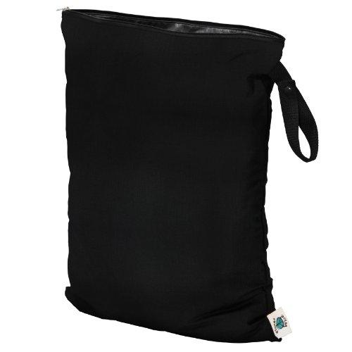 Baby Planet Black Stroller - Planet Wise Wet Diaper Bag, Black, Large