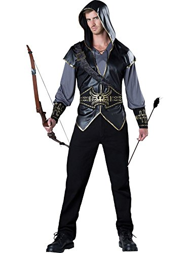 InCharacter Costumes Men's Hooded Huntsman Costume, Grey/Black, Large -
