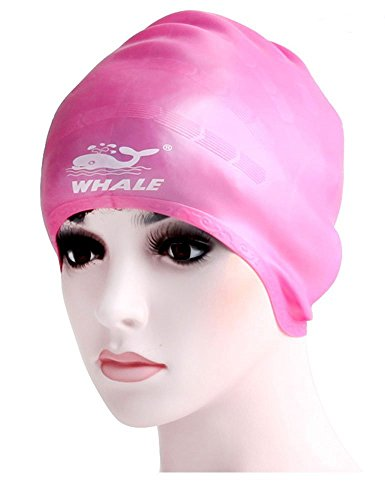 GZLMMY Cover Ears Swim Caps for Adult Women Men Girl Youth Long Hair, Flexible and Ear Waterproof,100% Silicone Breathable Swim Cap Makes Your Hair Clean - Covers Ears That Swim Cap