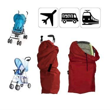 Red liltourist Stroller Gate Check Bag Protective Cover Buggy Airplane Flight Travel Bag with Carrying Handle