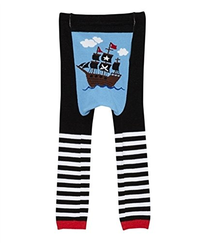 Doodle Pants Leggings (L 18M-2T, Black Pirate Ship) (Pirate Outfits For Toddlers)