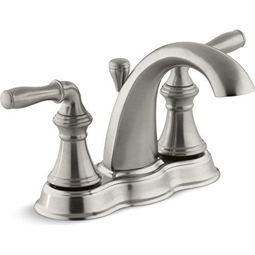 KOHLER K-393-N4-BN Devonshire Centerset Lavatory Faucet, Vibrant Brushed Nickel