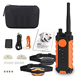 Anti-bark Dog Training Kit Shock Collar for Dogs Waterproof, Rechargeable Dog Shock Collar with Remote No Harm Dog Training Collar Fast Training Effect for Small Medium Large Dogs