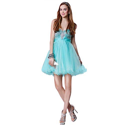 Alyce Paris Strapless Tulle Cocktail Dress Aqua – 14