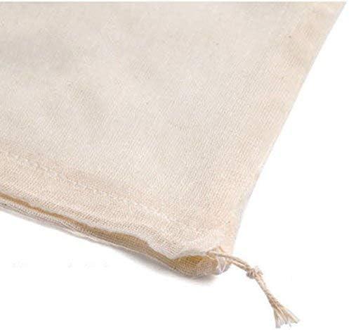 FERZA home Pettorina in puro cotone La sacca per zuppe Sacchetto filtro in garza di cotone Ogni sacchetto di scorie Sacchetto filtro di medicina tradizionale cinese Scorie Materiale Salsa alogena Bors