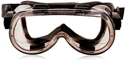 MCR Safety 2400F Verdict Polyvinyl Chloride Strap Foam Lining Safety Goggle with Smoke Frame and Clear Lens, 1 - Googles Smoke