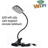 U-shop wifi HD spy Hidden Camera Desk Lamp Nanny Night Vision Video Recorder Cam,1080P