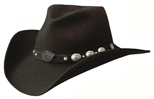 Jack Daniel's Hats 100% Wool Satin Lined Western Cowboy Hat (Small) Jack Daniels Cowboy Hats