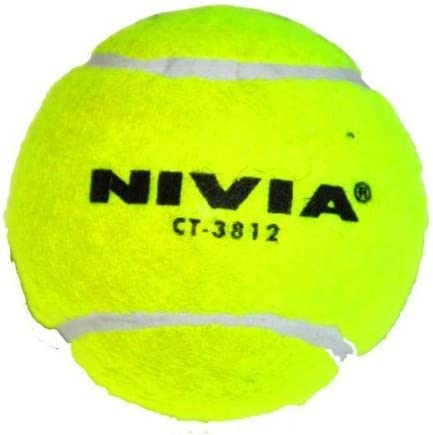 Yellow by Nivia Pack of 12 Nivia Heavy Tennis Ball Cricket Ball
