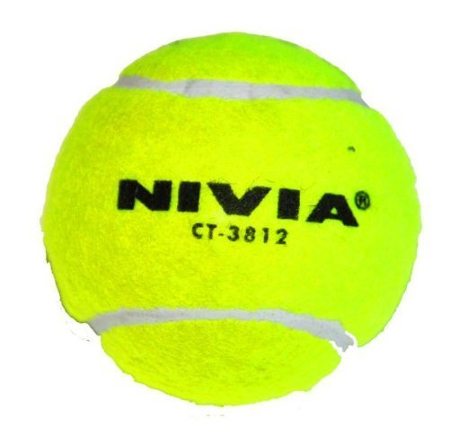 Nivia Hard Tennis Ball for Baseball/Cricket and Tennis, Yellow (Best Cricket Ball Brand In India)