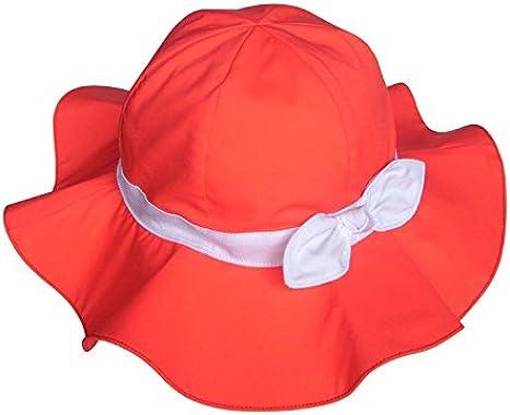 Turkoni Spring//Summer//Autumn Baby Girl Bowknot Cotton Hat//Beach Cap//Outdoor Hat Sun Protection Hat UPF 50 Adjustable