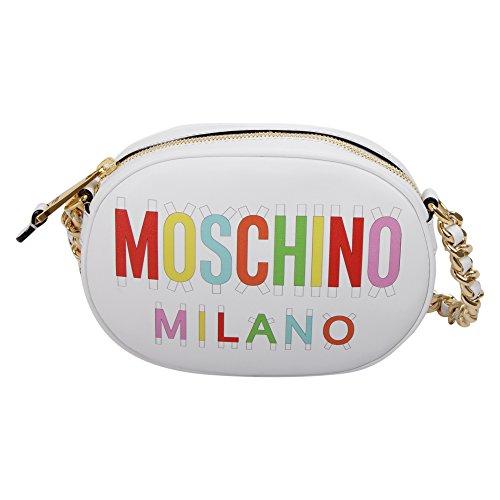Moschino Borsa A Spalla Donna 75118001A1001 Pelle Bianco