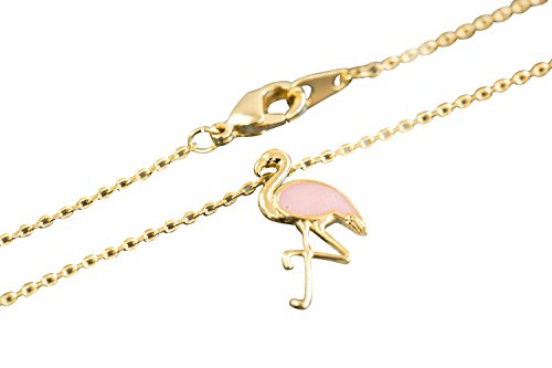 handmade-animal-anime-fashion-jewelry-for-girls-women-teens-baby-Pink-Flamingo-chain-pendant-charm-necklace-bo
