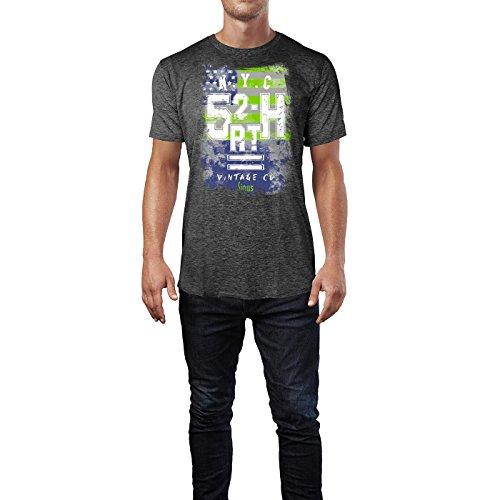 SINUS ART ® US Flagge - Honor & Glory Herren T-Shirts in dunkelgrau Fun Shirt mit tollen Aufdruck