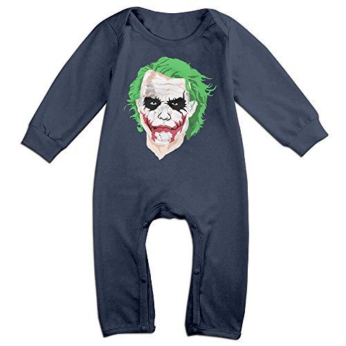 KIDDOS Baby Infant Romper The Joker Long Sleeve Jumpsuit Costume,Navy 24 Months - Baby Joker Costume