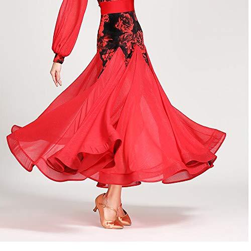 Maxi Serbatoio 2xl Danza Grandi Leotard Paillettes Lirica Abito Xl Discoteca Rosso Gonna Dimensioni Weseason Balletto Floreale Z8wXqqx1