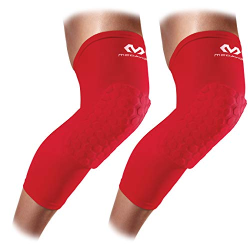 Knee Compression Sleeves: McDavid Hex Knee Pads Compression Leg Sleeve for Basketball, Volleyball, Weightlifting, and More - Pair of ()