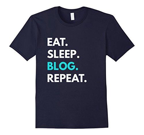 Mens Eat Sleep Blog Repeat t-shirt - Blogging Tees Small - For Blog Men